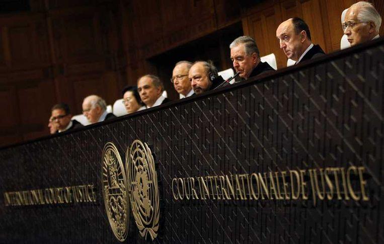 Leden van het Internationaal Gerechtshof in Den Haag.