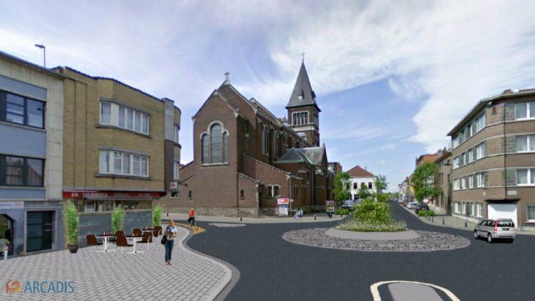 Op het kruispunt van de Karel Gilsonstraat en de Stationsstraat zal ook een rotonde aangelegd worden.