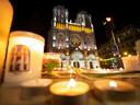 Kaarsen voor de Notre Dame in Nice.