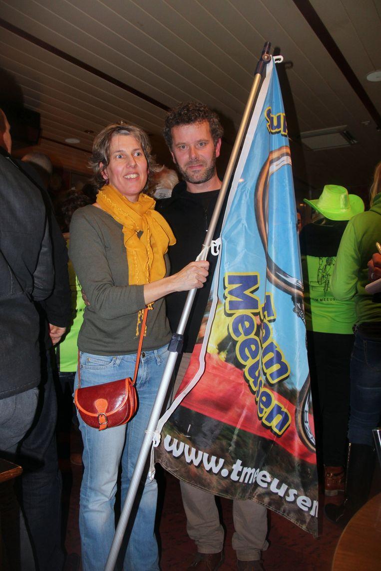 Tante Kristel Meeusen, samen met haar man Vic Peeters, voorzitter van de supportersclub.