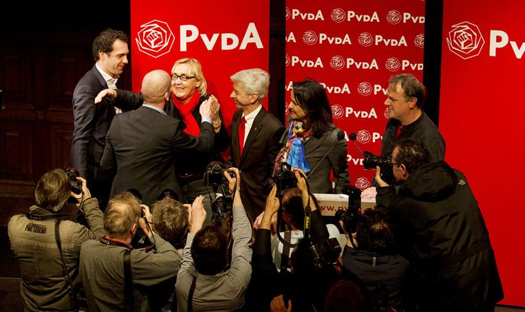 De interne verkiezing bij de PvdA leverde die partij onlangs veel media-aandacht op. Beeld ANP