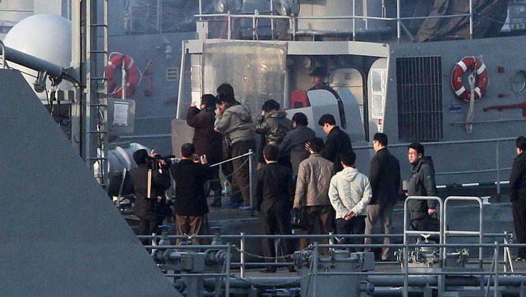 Noord-Koreaanse vluchtelingen worden opgepikt door een Zuid-Koreaans schip (archieffoto).