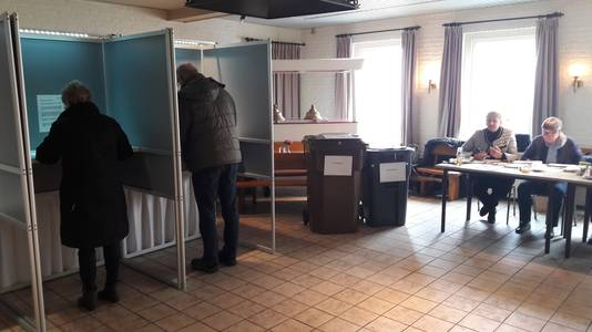 Stemmen bij 't Maoske in De Moer.