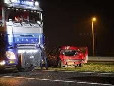 File op N50 bij Kampen door ongeluk