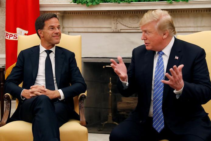 De eerste ontmoeting tussen Mark Rutte en Donald Trump.