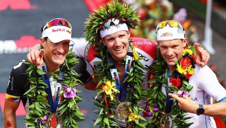 Vorig jaar stonden met Kienle, Frodeno en Lange drie Duitsers op het podium.