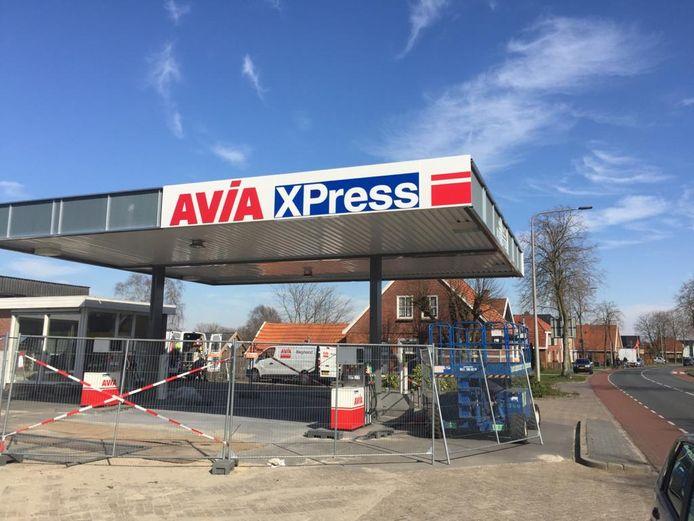 Het nieuwe tankstation in Ootmarsum
