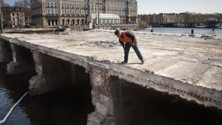 Dit rijksmonument lijkt vooral van gewapend beton te zijn, maar geldt als een belangrijk stedenbouwkundig en technisch monument. Foto Floris Lok Beeld