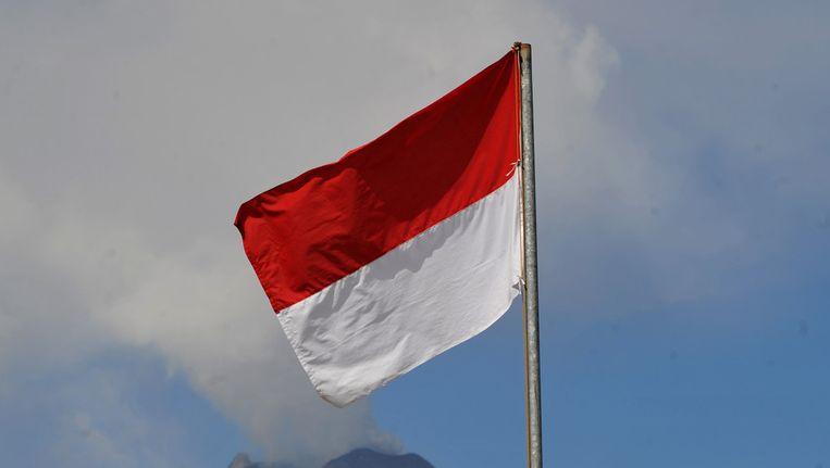 De vlag van Indonesië. Beeld afp