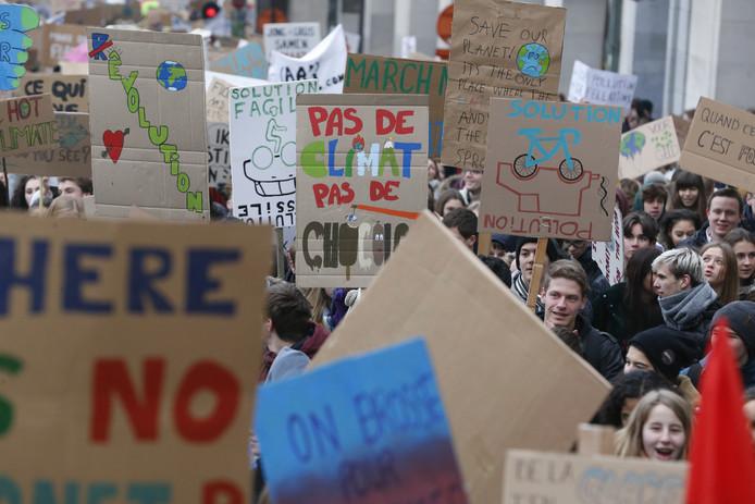 Onder de studenten zowel Belgische als Franstalige studenten.