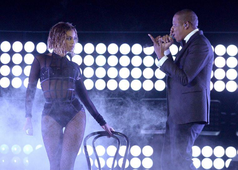 Beyoncé en Jay-Z Beeld AFP