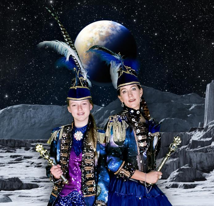 Prins Es en haar dochter jeugdprinses van Rommelgat