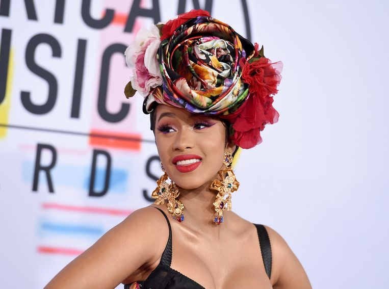 Cardi B op de American Music Awards 2018 in Los Angeles.