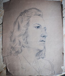 Suzy Wahl, getekend in  1944 door Arnhemmer Bert Gorissen