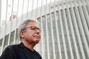 Daniel Libeskind bij de 9/11 Memorial site.