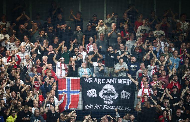 Antwerp-fans vorige week donderdag in het Tsjechische Plzen.