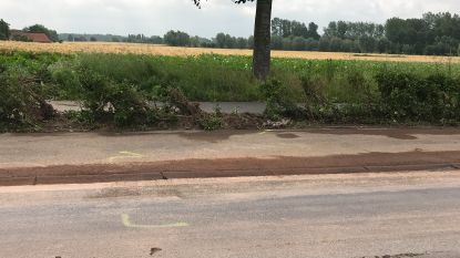 Weg verontreinigd na ongeval in Keibergstraat