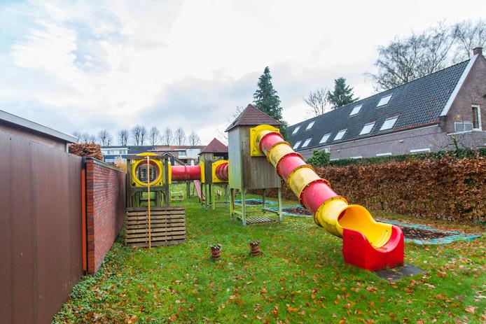 De voormalige speeltuin achter pannenkoekenrestaurant de Pannenkoekenbakker in Eersel.