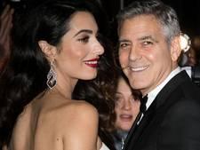 George Clooney zielsgelukkig als man van Amal