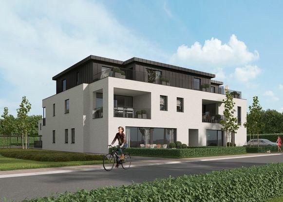 Vooraan zullen negen appartementen gebouwd worden.