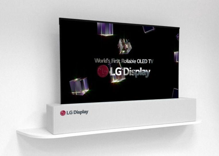 LG's nieuwste oprolbare tv, deze keer met schermdoorsnede van 65 inch.