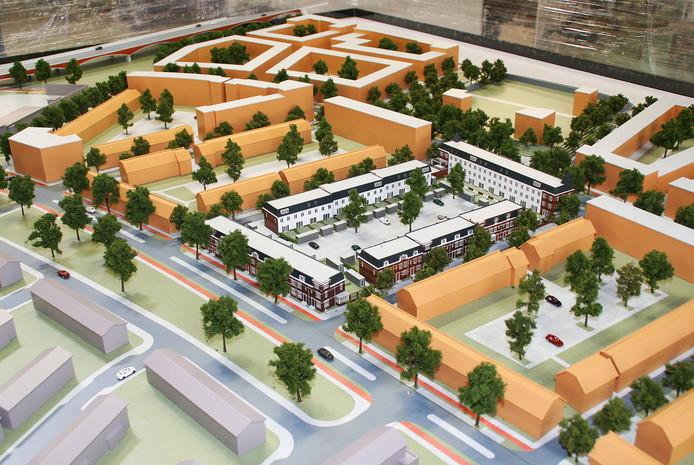 Ontwerp uit 2014 voor de bouw van Koningsdaal, de nieuwe wijk bij stadsbrug De Oversteek.