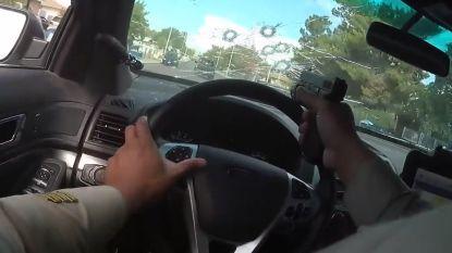 Agent schiet 11 keer door eigen voorruit tijdens wilde achtervolging