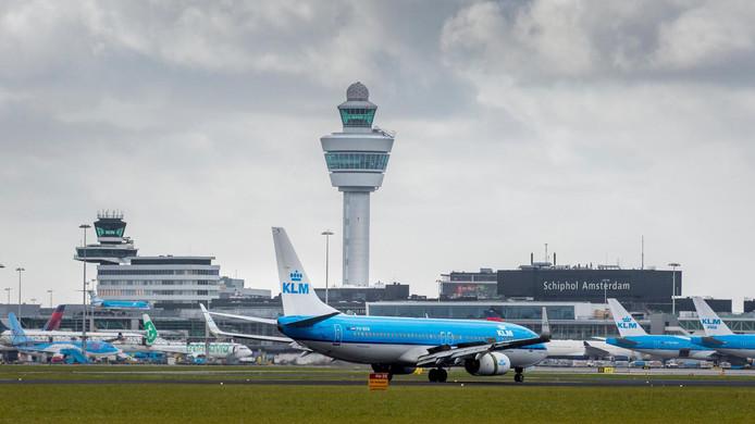 De verkeerstoren op Schiphol.
