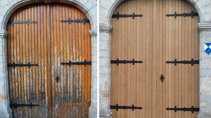 Kerkdeur van de Sint-Quirinuskerk in Bunsbeek gerestaureerd met erfgoedpremie