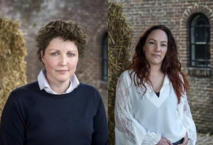 De oproepfoto's van Steffi (links) en Michelle