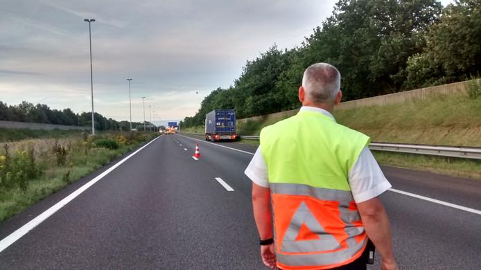 Ongeval op A58 bij Breda.