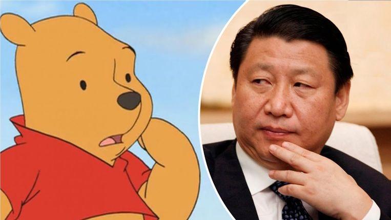 Xi Jinping wil niet worden vergeleken met Winnie de Poeh. Beeld