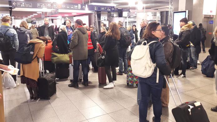 Gestrande reizigers in Brussel.