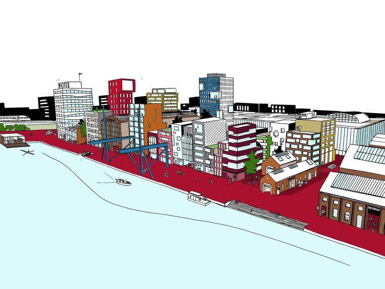 Een impressie van het nieuwe Oostenburg Beeld Urhahn Urban Design