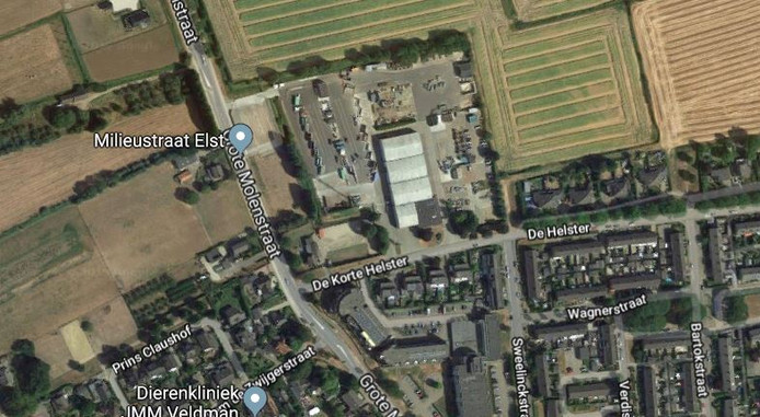 De milieustraat en gemeentewerf in Elst