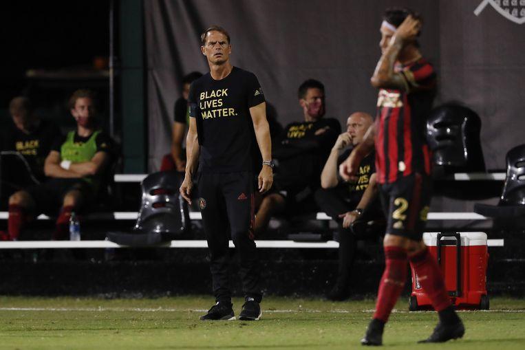 Frank de Boer op 21 juli, toen hij Atlanta United nog coachte in de MLS-bubbel in Florida.  Beeld AFP