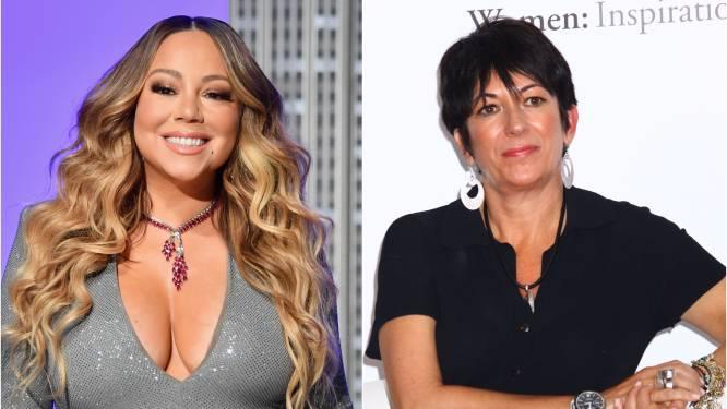 Beelden van Mariah Carey die 'Ghislaine Maxwell' hardhandig wegduwt gaan viraal