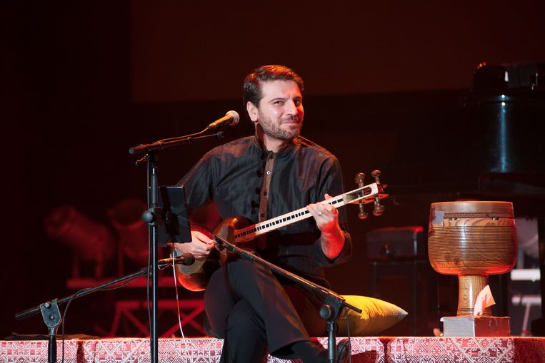 Zanger Sami Yusuf op het International Mawazine Music festival  in Rabat, Marokko, 12 mei 2017.   Beeld Getty Images