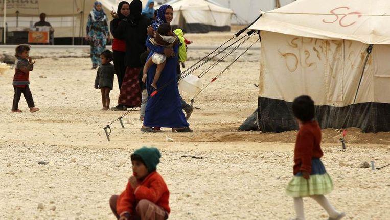 Vluchtelingenkamp in Jordanië Beeld reuters