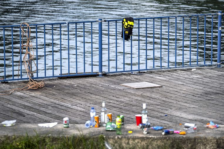 De plek aan de Nieuwe Meer waar Bas van Wijk doodgeschoten werd. Beeld ANP