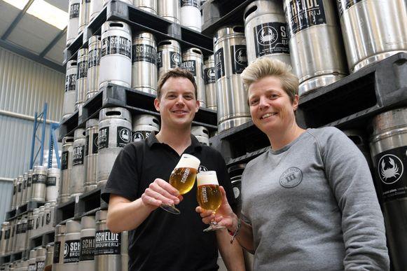 Jeroen Havermans hier met biersommelier An Martens van '3 in de klok'