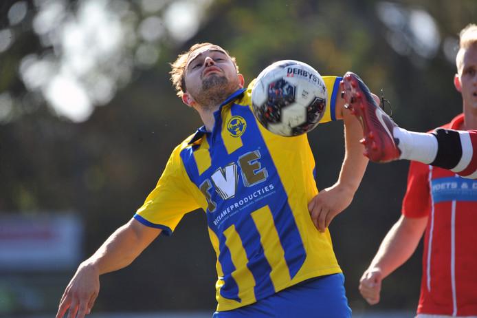 Stefan Hulsen opende de score voor Nijnsel tegen SDDL.