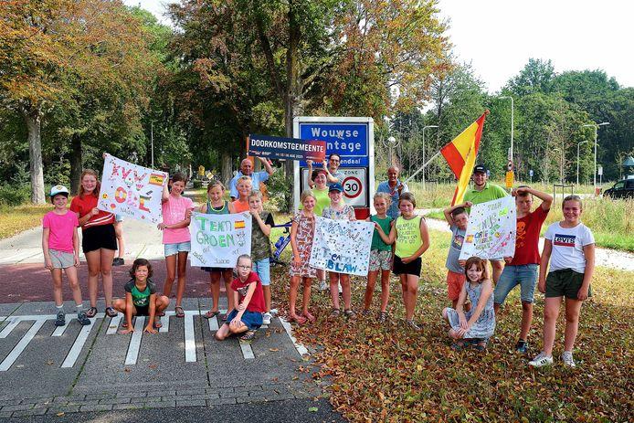 Geen doorkomst van de Ronde van Spanje maar wel nog een Spaans feestje voor de kinderen van kindervakantiewerk.