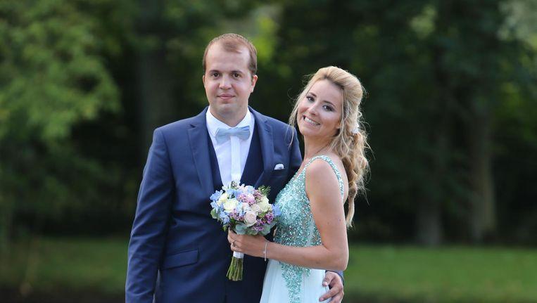 Charline en Dieter tijdens hun huwelijk.
