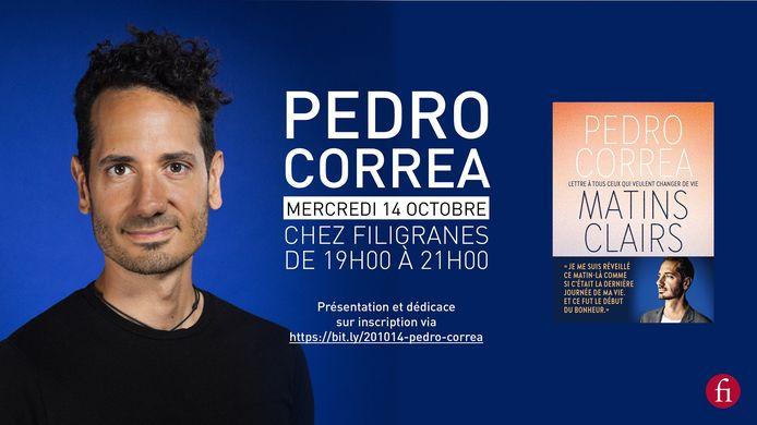 Pedro Correa présentera son livre ce mercredi 14 octobre chez Filigranes.