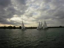 Ideaal weer bij zeilwedstrijden Watersportvereniging De Maaskant in Lithoijen