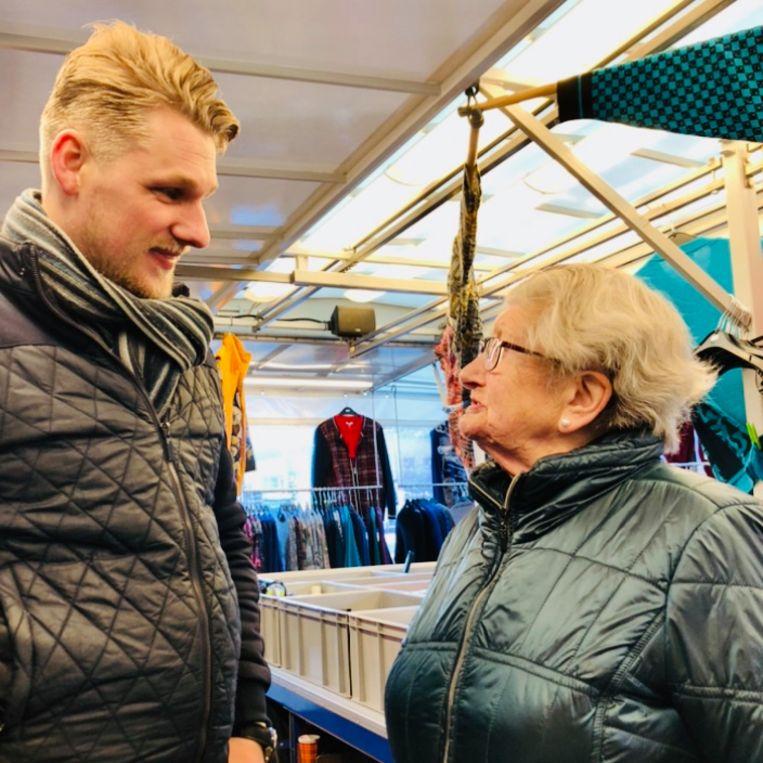 Ruben Janssen en Maria Jonkman. Beeld