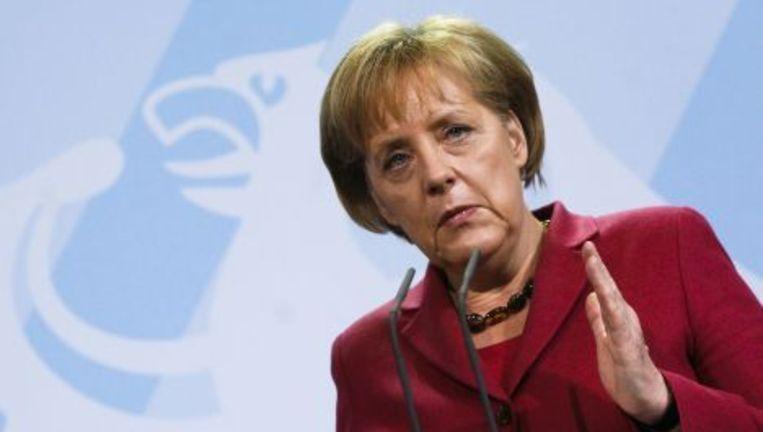 De Duitse bondskanselier Angela Merkel. Foto AP Beeld