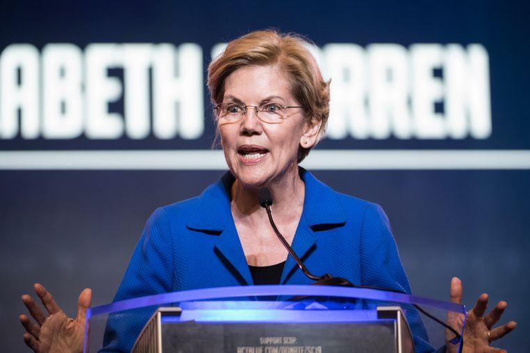 Elizabeth Warren Beeld Getty Images