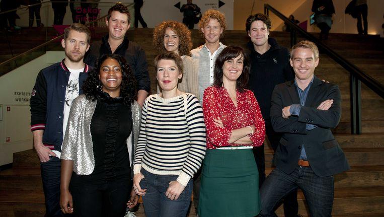 De deelnemers aan het tv-programma Wie is de Mol? in 2013 Beeld anp